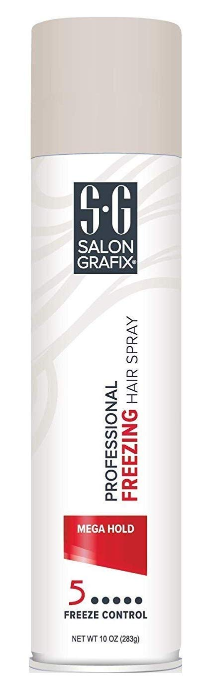 Salon Grafix - Spray congelador para el pelo, Mega Hold, 10 oz ...