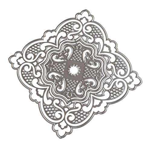 (TOPUNDER New Flower Heart Metal Cutting Dies Stencils DIY Scrapbooking Album Paper Card)