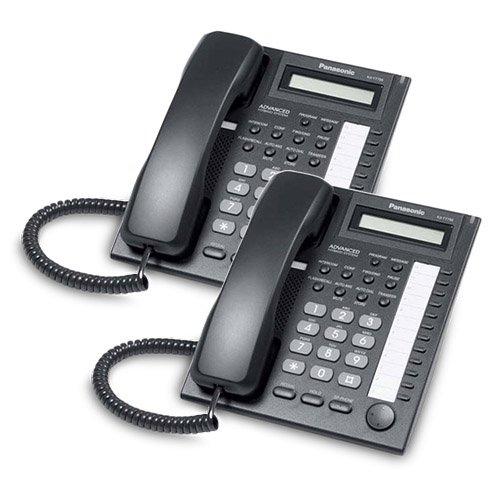 Advanced Hybrid Telephone System (Panasonic KX-T7730 Corded Telephone Black (2 Pack))