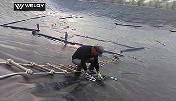 Weldy Geo2 Wedge Geomemberance Overlap Welding Plastic Membrane Hot Wedge Welder Welding Machine High Powerful Waterproof Membrane Hot Wedge Welder