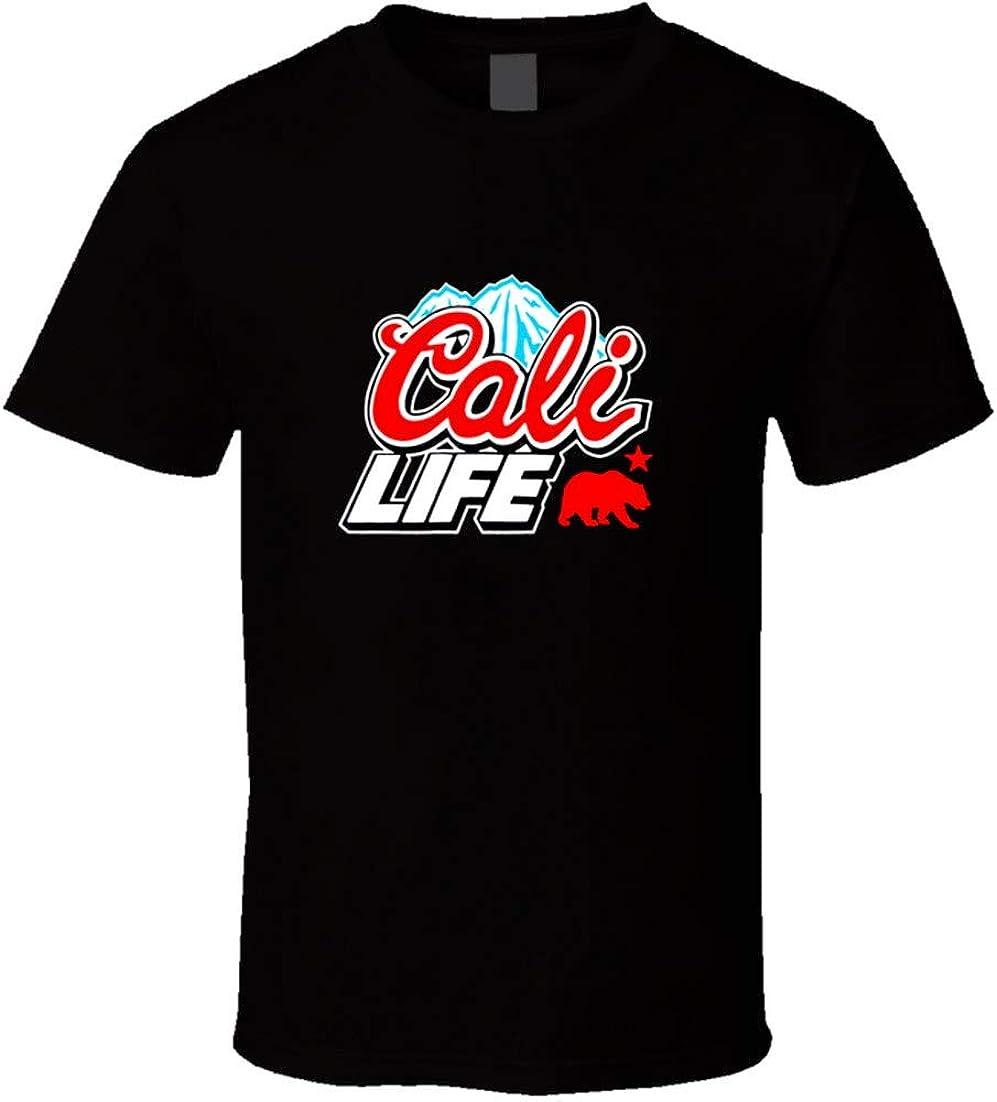 CALI LIFE Coors Light Beer Logo Parody T Shirt