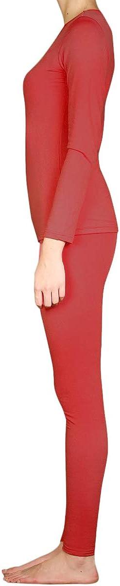 SLM ThermaTek Womens Microfiber Fleece Thermal Underwear Two Piece Long Johns Set