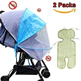 Baby Mosquito Net, Baby Bug Mosquito Net Baby Stroller Cover UV Universal Baby Carriage Mosquito Net Protection Against Ultraviolet Ray / Dust / Bug , Universal Size, Weather Protection, UV Resistant (Blue, zipper style Mosquito Net)