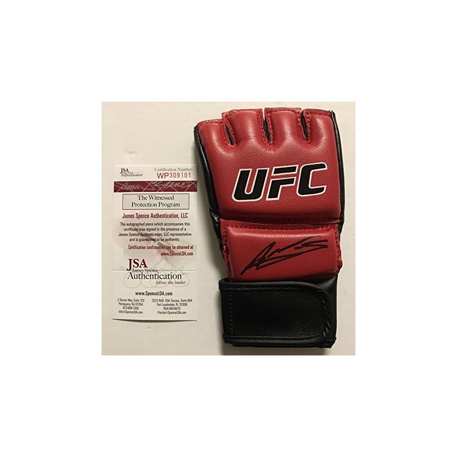 Autographed/Signed Amanda Nunes Bantamweight Champion Red UFC MMA Glove Ultimate Fighting JSA COA
