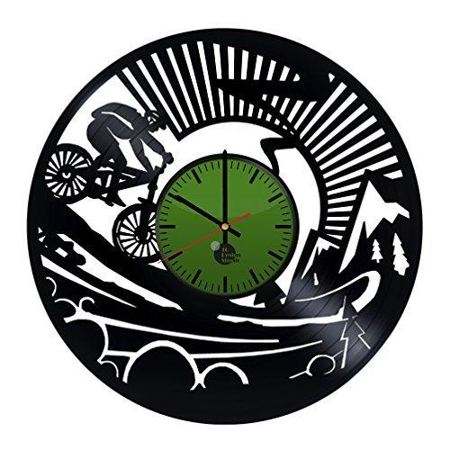 Mountain Bike Handmade Vinyl Record Wall Clock Fun gift Vint