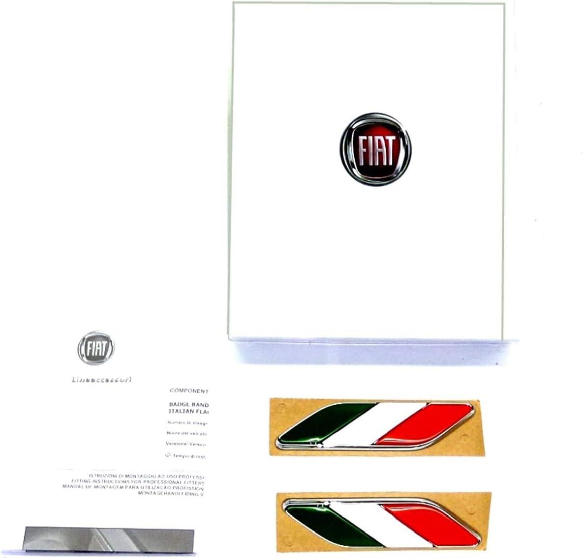 Original Fiat 500 Sticker Italienische Flagge Auto