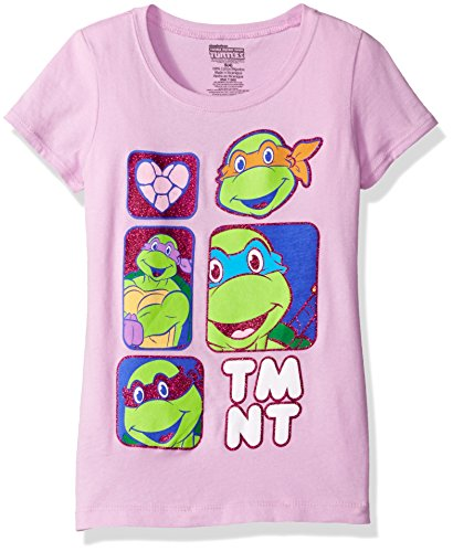 Nickelodeon Girls' Teenage Mutant Ninja Turtles Glitter T-Shirt