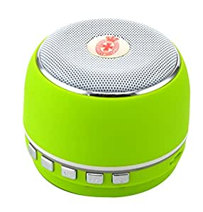 BestFire® Brand New Universal A1 Economical Portable Mini Wireless Bluetooth Speaker with Subwoofer Support Hand-free Call/TF Card/Radio for iPhone 6/5S/5C/5/4S Galaxy S5/S4/S3/Note 3 Nexus 4 HTC One/One 2 (M8)/Desire Nokia Lumia 520/1020 LG G2/G3 and most other Smartphones and Other Bluetooth Enabled Devices (Green)