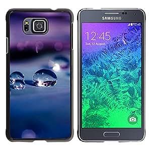 YiPhone /// Prima de resorte delgada de la cubierta del caso de Shell Armor - Water Droplets Drops Macro Depth Of Field - Samsung GALAXY ALPHA G850