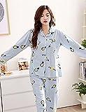 WWQY Women's Cotton Roman Knit Pajama , light blue , l