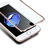 VIUME iPhone 8 7 Screen Protector, Premium [Edge to Edge] 3D Curved Full Coverage Tempered Glass Screen Protectors for Apple iPhone 8 / iPhone 7 4.7' Film (Rose Gold)
