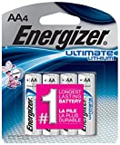 : Energizer Ultimate Lithium Batteries Batteries AA, 4 Each