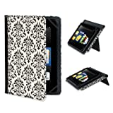 "Verso ""Versailles"" Standing Cover for Kindle Fire HD 8.9"", Black and White (will only fit Kindle Fire HD 8.9"")"
