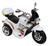 BEST SELLER PoshTots kids High Quality Imported Ride ON Battery Operated Sports Bike Harley Davidson Style Bike (White)
