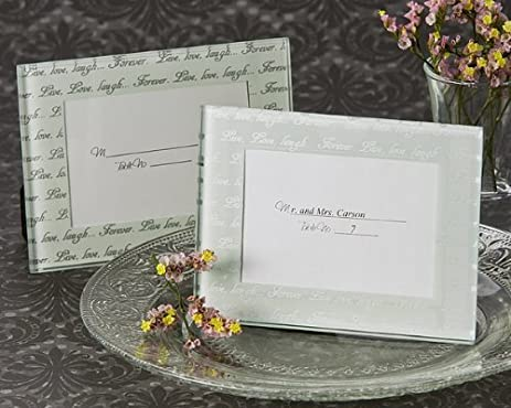 frosted mini photo frame place card holder - Mini Picture Frames Bulk