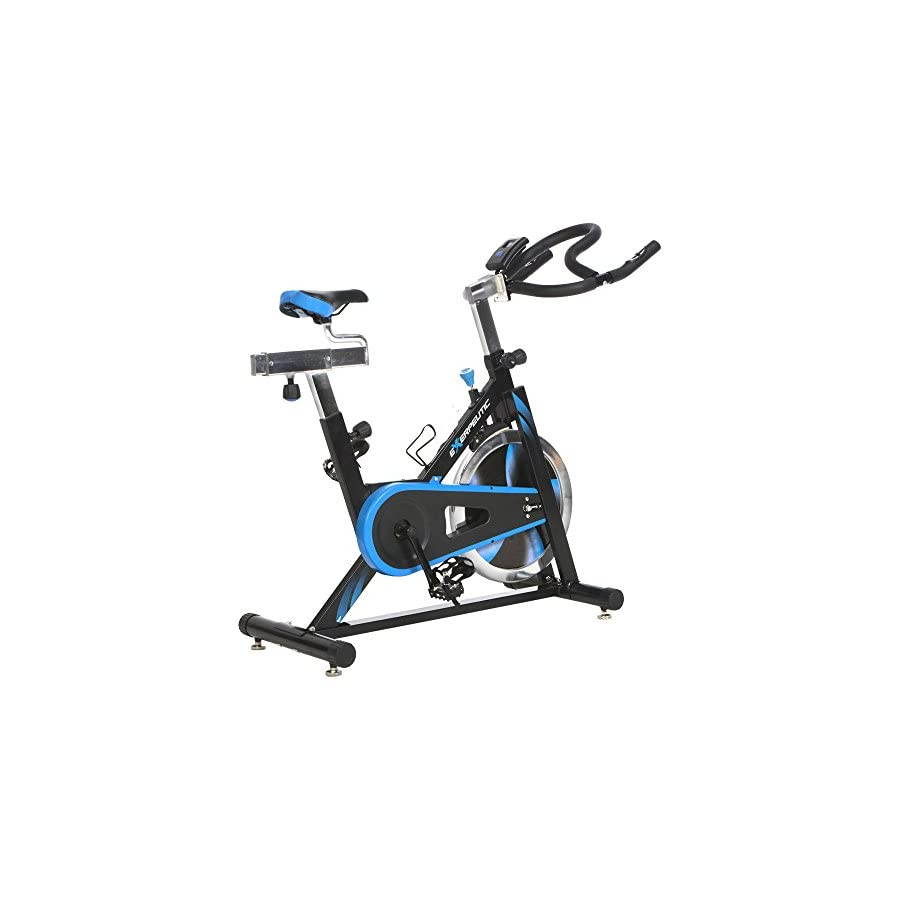 Exerpeutic LX7 Indoor Cycle Trainer with Computer Monitor and Heart Pulse Sensors