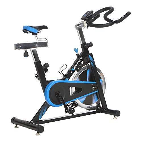 Exerpeutic LX7 Indoor Cycle Trainer with Computer Monitor and Heart Pulse Sensors Paradigm Health and Wellness Inc