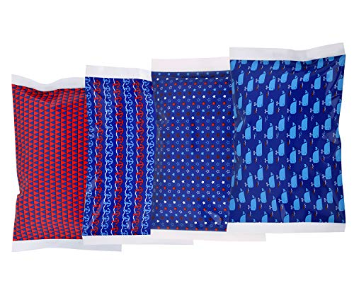 Ice Pack for Lunch Boxes - 4 Reusable Packs - Nautical Print