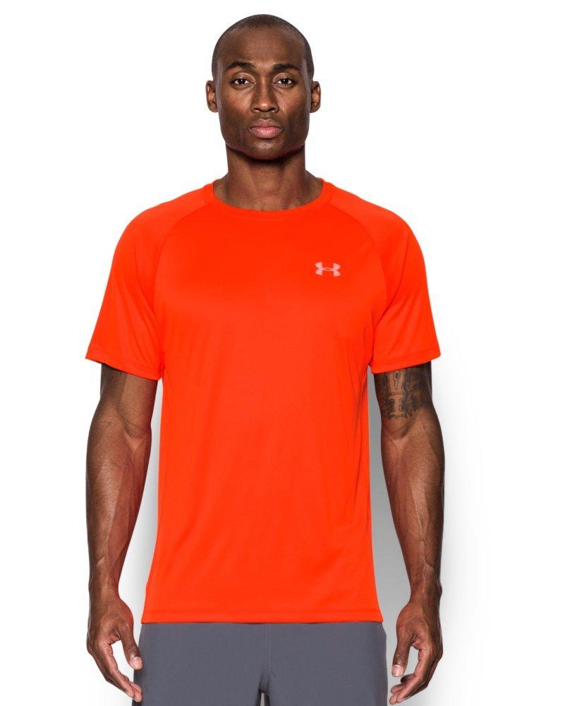 Under Armour Men's HeatGear Run Short Sleeve T-Shirt X-Large Phoenix FIRE