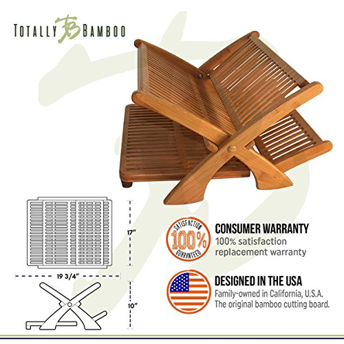 Totally Bamboo Quot Eco Collapsible Bamboo Dish Drying Rack