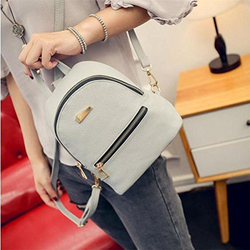 Backpack Handbag Bag Women's Gray Travel Women Shoulder School Elaco Rucksack Backpack SnRwwZqX