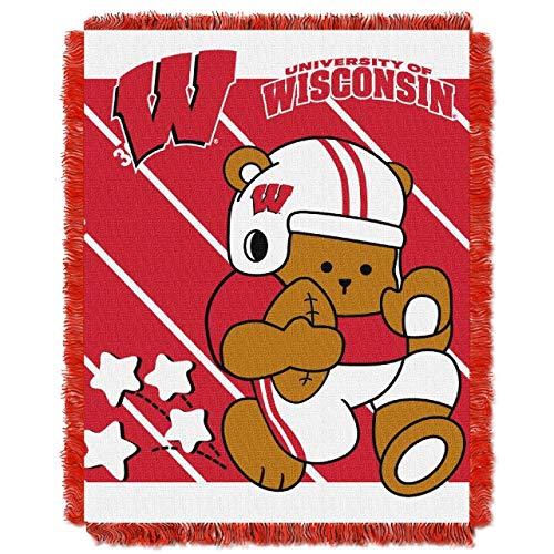- NCAA Wisconsin Badgers Fullback Woven Jacquard Baby Throw, 36