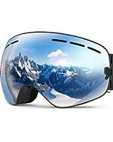 ZIONOR X Ski Snowboard Snow Goggles OTG Design for Men & Women with Spherical Detachable Lens UV Protection Anti-fog