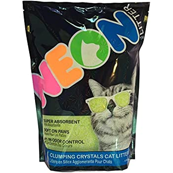 Neon Clumping Silica Gel Cat Litter, 4 lb, Green