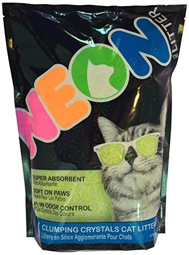 Neon Clumping Silica Gel Cat Litter, 4 lb, Green