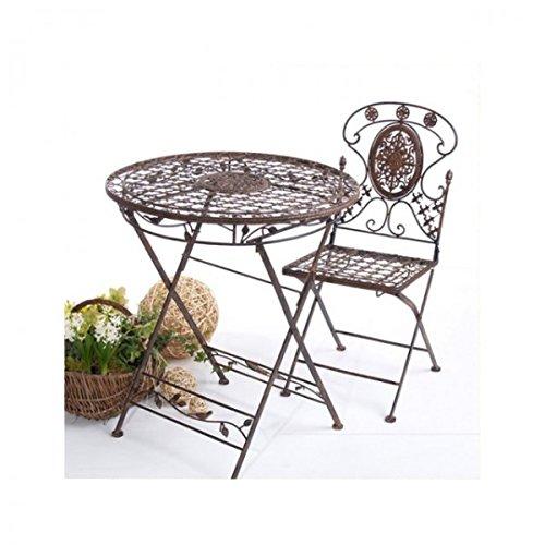 Landhaus Sitzgruppe AVIS Gartentisch mit 2 Gartenstühle klappbar ...