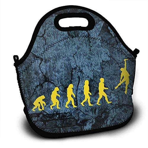 Ultimate Frisbee Evolution2 Insulated Neoprene Lunch Bag Removable Shoulder Strap-Reusable Thermal Thick Lunch Tote/Lunch Box/Cooler Bag For (Best Generic Frisbees)
