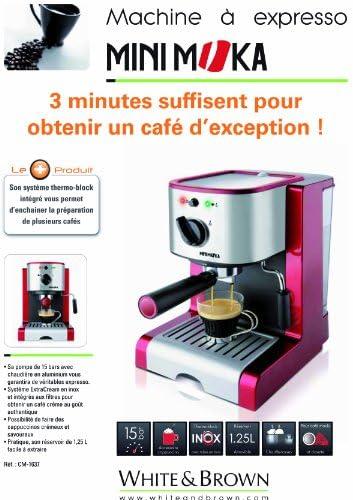 MiniMoka CM-1637 - Cafetera Express, 15 bares, manual: Amazon.es ...