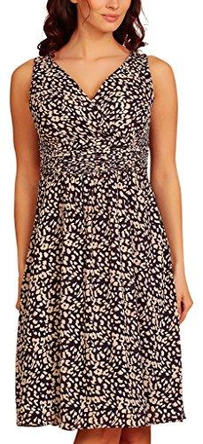 Vestito Basic Blue Senza Evening Sera Donna Dress Navy Maniche Print My Leopard IzxEwqZXq