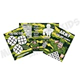 MunchieMoosKids Pack of 12 - Army Camouflage Fun and Games Activity Sheets - Party Bag Books Fillers