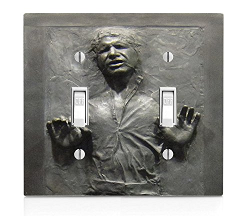 Cool Carbonite Print Double Light Switch Plate
