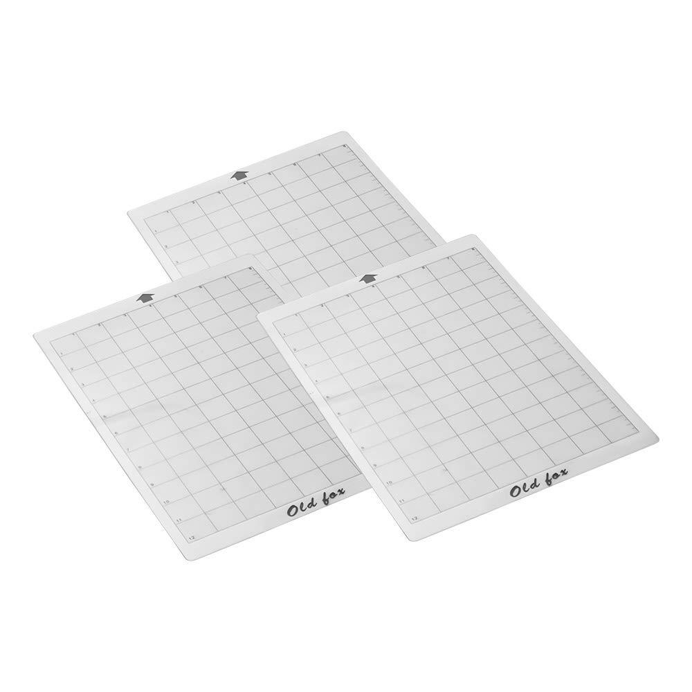 fervory 3 ST/ÜCKE Ersatz Schneidematte Transparent Adhesive Mat Pad Mit Messgitter 12 Mal 12 Zoll F/ür Silhouette Cameo Plotter Maschine