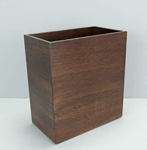 Amazon Com Handmade Oak Paper Waste Bin Solid Wood