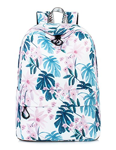 Leaper Floral Laptop Backpack Ink Painting School Bookbags for Girls Large College Bags Women Daypack (Floral-Ink Painting) ()