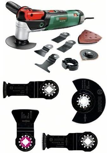 Bosch PMF 250 CES Set - Herramienta multiusos + Bosch 2 609 256 979 - Juego de montaje de suelos, 4 piezas (pack de 4): Amazon.es: Bricolaje y herramientas