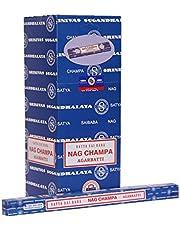 Satya Incienso Sai Baba Nag Champa Sticks Agarbatti 250 Gramos Caja | 25 Paquetes de 10 Gramos en una Caja | Calidad de exportación