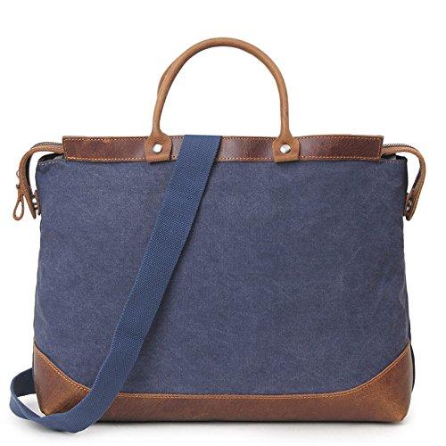 mefly Men 's Casual Bolsa de viaje de gran capacidad bolso bolsa de viaje para hombres, caqui azul real
