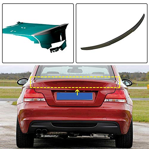 JC SPORTLINE E82 Rear Trunk Lip, fits for BMW 1 Series E82 120i 125i 128i 135i Coupe 2-Door 2007-2013 Carbon Fiber Rear Deck Lid Boot Spoiler Wing M4 Style