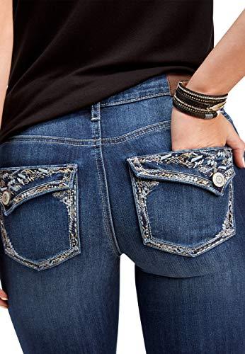 34ed926f95c maurices Women's Denimflex Dark Wash Thick Stitch Bootcut Jean 12 Dark  Sandblast