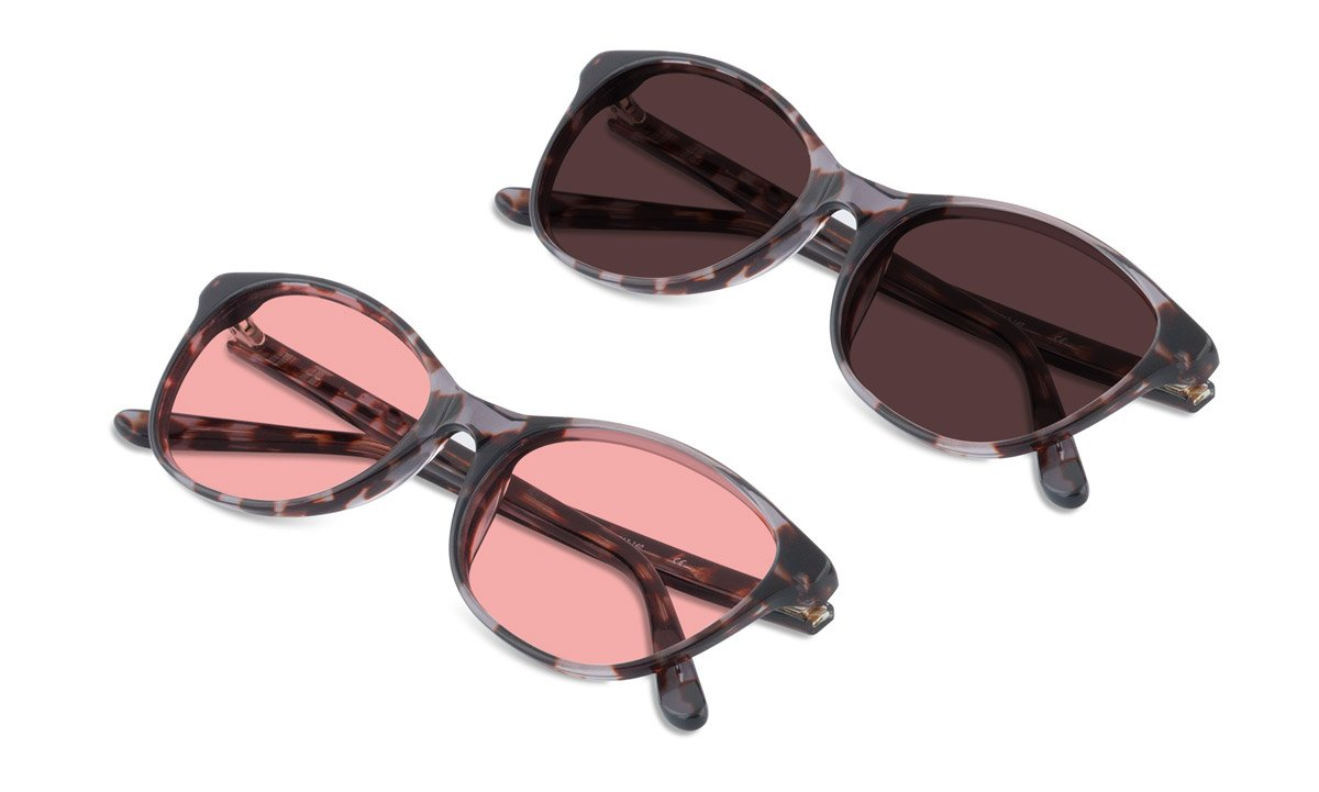 TheraSpecs Audrey Migraine Glasses for Light Sensitivity, Photophobia and Fluorescent Lights | Women | Indoor and Polarized Outdoor Lenses | Brown