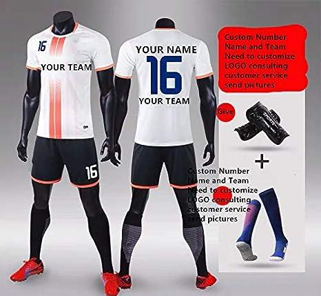 Zhijiagelily - Camiseta de fútbol con diseño de Rayas Blancas y ...