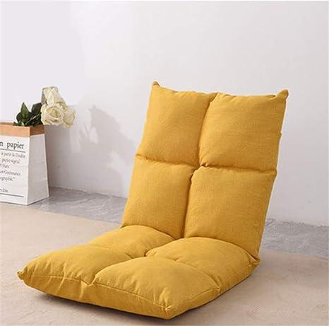 Amazon.com: CSPFAIRY Foldable Padded Floor Chair with Back ...