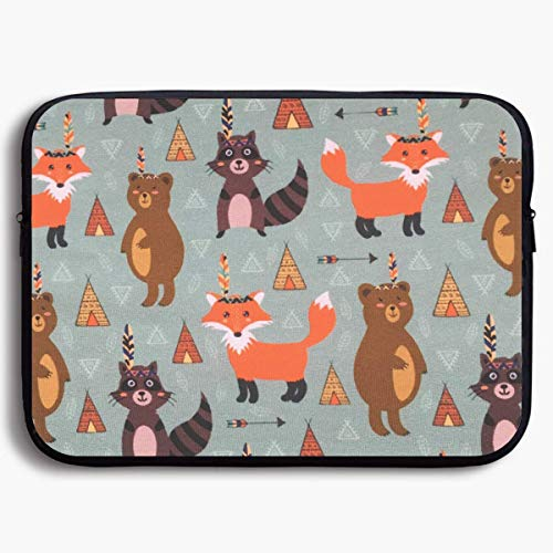 Laptop Sleeve Bag Cute Fox Raccoon Bear Briease Sleeve for sale  Delivered anywhere in Canada