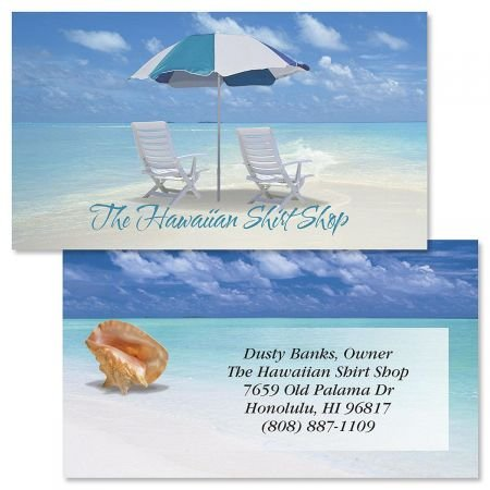 Calm Seas Double-Sided Business Cards - Set of 250 2