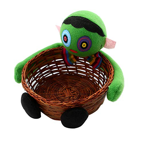 cici store Halloween Zombie Candy Storage Bamboo Basket,Cookie