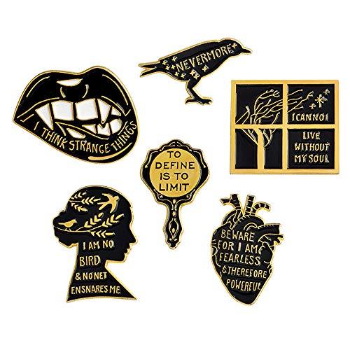Cute Cartoon Brooch Pins Enamel Brooches Lapel Pins Badge Women Girls Children Clothing Bag Decor ()